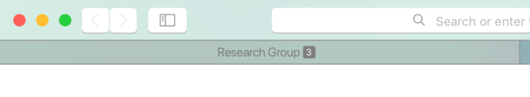 Number of tab grouped