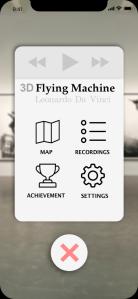 Menu card for the AR app